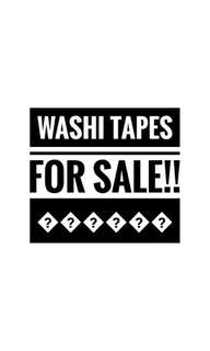 WASHI TAPES FOR SALE