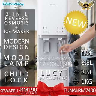 COWAY LUCY 2 IN 1 BARU! NEW! RO + ICE MAKER!