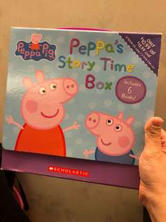 Peppa pig story time box (total 6books)