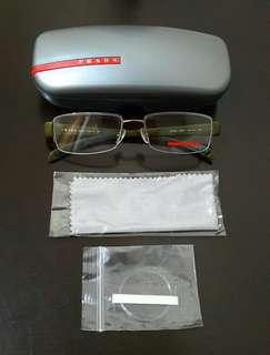 PRADA Semi-Rimless Eyeglass Frame - FREE SHIPPING