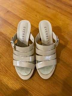 Heels Sandals In Almond