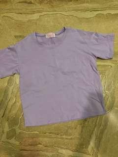 🚚 馬卡龍粉紫色短版上衣