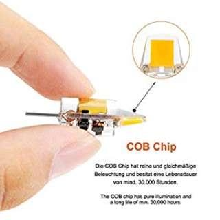 635. Liqoo 4er G4 LED 1,2W /100HOURS Lampe Birne, high Power COB Chip