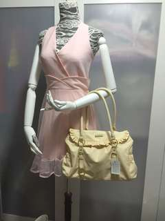 Yellow hand bag