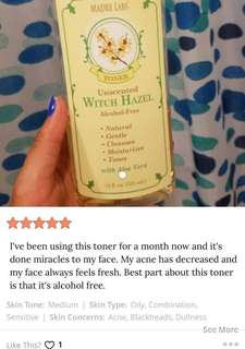 ⚡️SUPER SALE! 😍Purifying Hypoallergenic Witch Hazel Toner