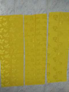 3 new pieces new yellow shiny textured fabric
