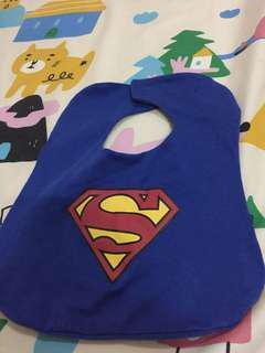 🚚 新生兒純棉 超人造型口水