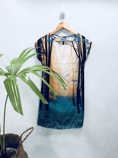Promod Painting Column Dress - Preloved, Excellent Condition