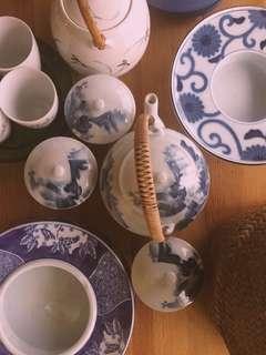 Japanese tea set for 3