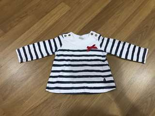 Hush puppy long sleeve shirt (6-9mo)