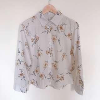 🚚 復古風格花朵襯衫