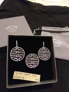 (SET) Lovelle Longevity Necklace & Earrings