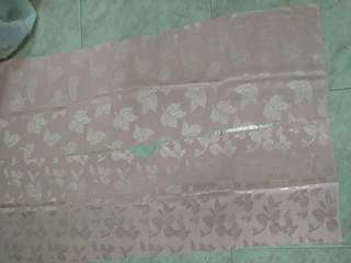 7 new pieces of shiny light pink textured fabric w patterns