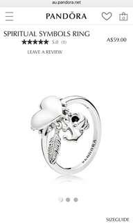 Pandora spiritual symbol ring