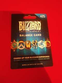 Blizzard PC $25 voucher