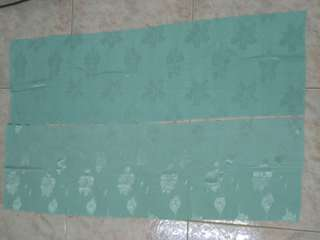 2 new pieces shiny mint green textured fabric w patterns