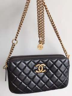 Chanel Vintage Classic Wallet On Chain (Just look at the price without looking at quality.Please bypass,Tq)