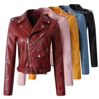 🆓POSTAGE PU Leather Jacket Bikers Jacket
