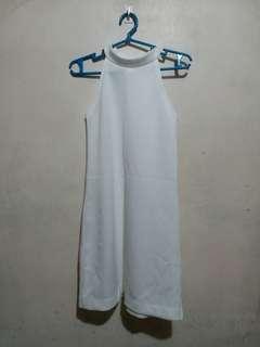 Genevieve Gozum White Halter Dress