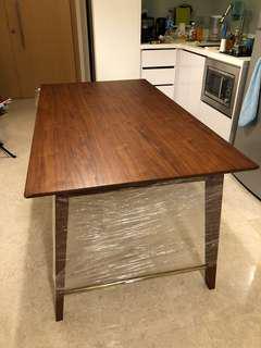 Wooden Walnut Oak Dining Table (1.5m Width)