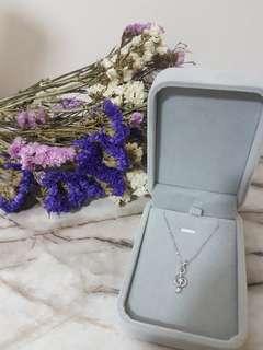 音樂符🎼 18k白金鑽石💎項鍊