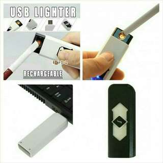 Korek Api Elektrik USB Lighter Tanpa Gas Rechargeable