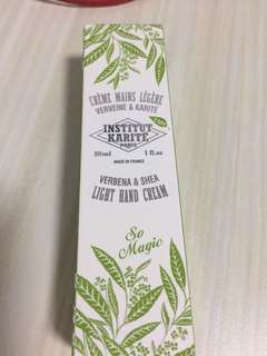 Institut karite Paris hand cream