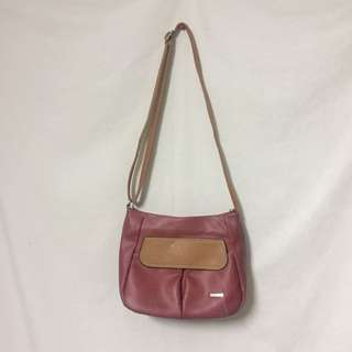 TWO ZIP SHOULDER BAG