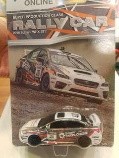 Limited 1/64 美國富士掃把佬 Rally DEALERSHIP 2015 WRX STI (NOT HOTWHEELS TOMICA) Diecast 合金車
