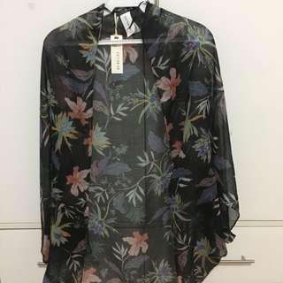 COTTON ON Tropical Floral Print Kimono