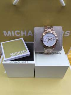 Michael Kors LOVE watch complete set