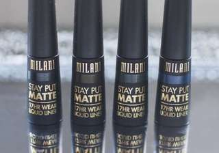 NEW AUTHENTIC INSTOCK Milani Stay Put Matte 17 Hour Liquid EyeLiner Black Matte