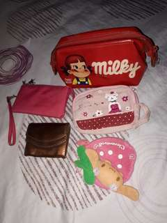 Pouches and coin purse