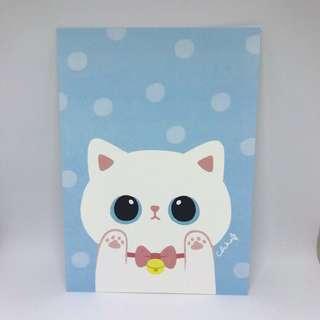 台灣插畫師CHIABB佳比貓貓postcard