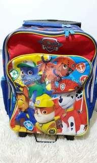paw patrol school troley bag