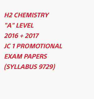 ($1) H2 CHEM PROMO EXAM PAPERS SOFTCOPY