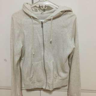 UNIQLO Cream Hoodie/Zipped Jacket