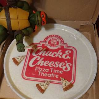 Chuck E Cheese pizza 碟