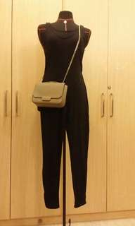 Knitted black jumpsuit