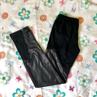 Leggings (ripped and leatherette)