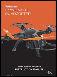 Drone-Voyager Skyview HD Quadcopter
