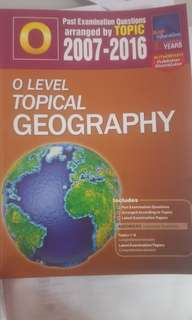 O-level TYS topical geography