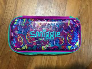 Smiggle Original butterfly pencil case