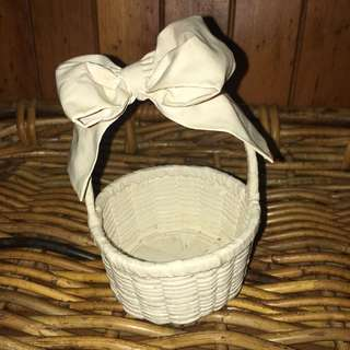 Bridal flower girl / trinket basket with bow