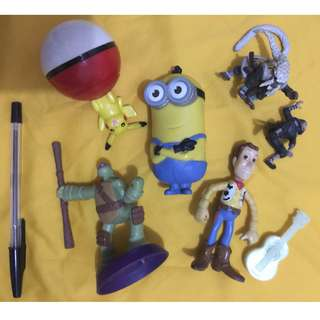 cartoon,ninja turtles, pokemon, toy story and mcdo toys