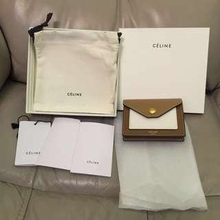 Celine pocket card holder 好新淨 coin purse wallet 卡片套 散子包 銀包