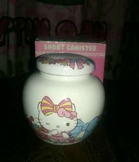 Short Canister Keramik tempat Gula hello kitty