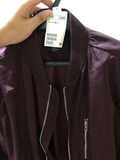H&M Bomber Jacket (Maroon)