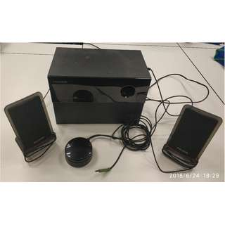 Microlab 2.1 Sound System (2 speakers + 1 amp)