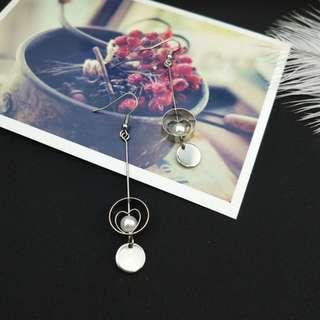【現貨】學生妹日系雙層愛心氣質網美百搭耳鉤耳夾耳環